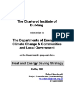 CIOB Response Heat and Energy Saving Strategy Consultation