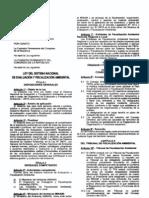 Ley Del Sistema Nacional de Evaluacion y Fiscalizacion Ambiental