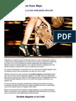 Sandale Elegante Cu Toc Inalt Online Vara 2013