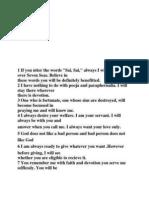 Shirdi Sai Commandments