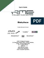 BABYFACE RME MANUAL