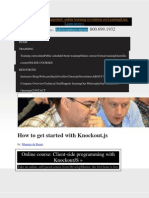 How to Get Started With Knockout_js