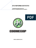 Propuesta Reforma Estatuto Coomegop