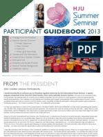 Official 2013 HJU Summer Seminar Guidebook  (July/August)