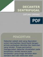 Decanter Sentrifugal Satop