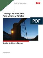 Catalogo de Productos Para Mineria y Tuneles.