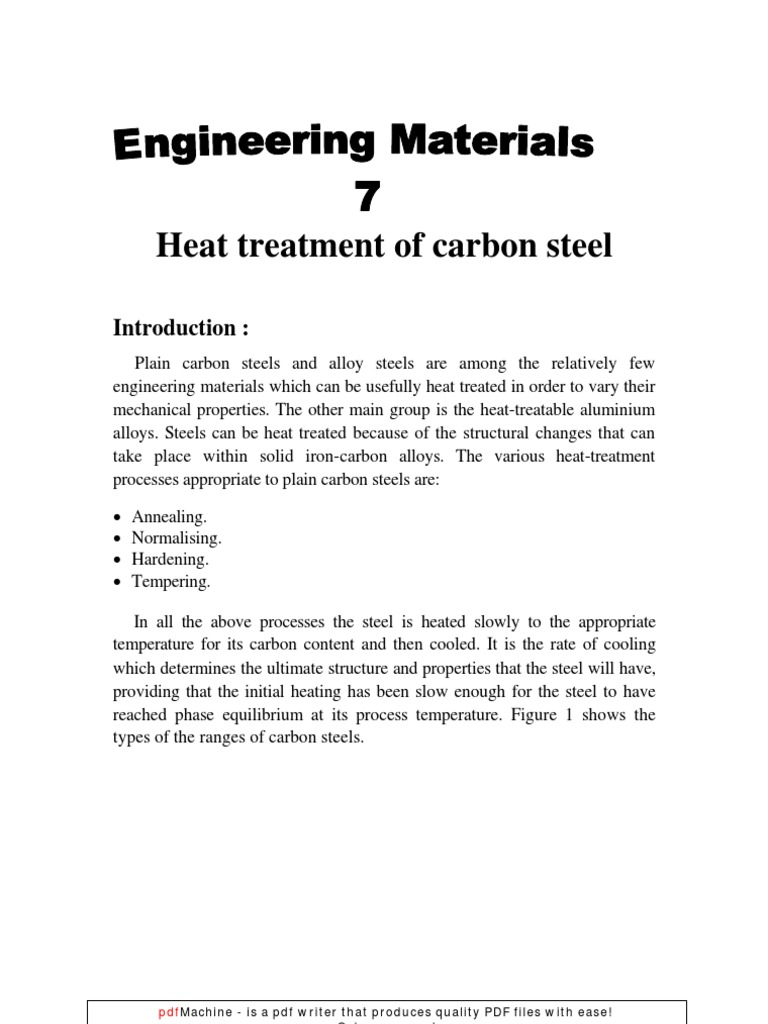 Heat treatment of steel. Types of heat treatment of metals 42