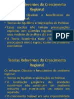 TEORIAS DO CRESCIMENTO REGIONAL - ENFOQUE CLÁSSICO E NEOCLÁSSICO