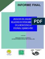 APLICACION DEL ANALISIS DE ANALISI DE RELACIONES DE INTERCAMBIO EN LA MICROCUENCA LA ENCAÑADA, CAJAMARCA-PERU