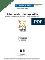 OPP MBTI Step II Interpretive Report Spanish[1]