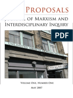 New Proposals-- Journal of Marxism and Interdisciplinary Inquiry 2007, Vol. 1 No. 1 (May, 90 Pp.)