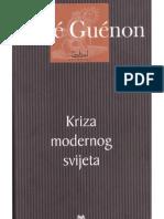 Rene Guenon - Kriza Modernog Svijeta