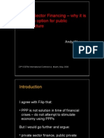 Private Sector Financing – why it is never an option for public infrastructure