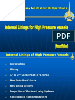 Internal Lining of Pressure Vessels