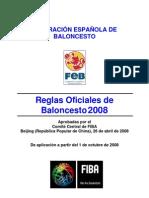 reglamento oficial del baloncesto actualizado 2008
