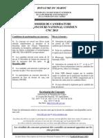 Dossier Candidature CNC 2013