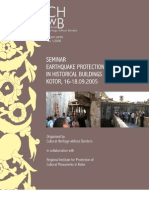 Seminar Earthquake Protection of Historical Buildings