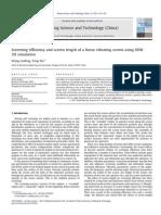 Screening efficiency of Vibrating Screens