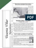 Vasanta Vihar Newsletter -07-Nov--Feb2008