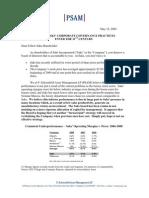 Schoenfeld Asset Managment's Letter to Saks' Shareholders