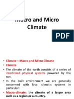 Macro and Micro Climate