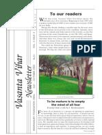 Vasanta Vihar Newsletter -Jul-oct 2005