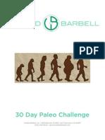 30 Day Paleo Challenge Packet