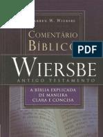 Comentário Bíblico WESBE Antigo Testamento - Warren W