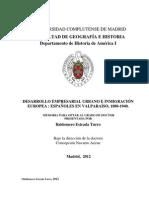 Desarrollo empresarial urbano e inmigracion europea.españoles