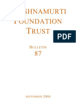 Krishnamurti Foundation Trust (Bulletin 87_sept06)