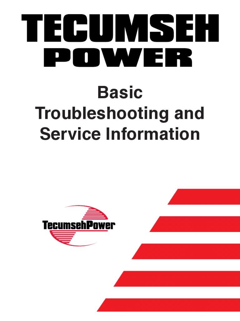 tecumseh basic troubleshooting service information gasoline rh scribd com Manual Book Parts Manual