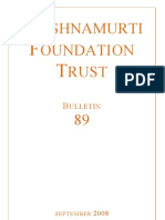 Krishnamurti Foundation Trust (Bulletin 89_sept08)
