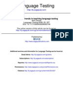 Davies Textbook Trends in Teaching Language Testing