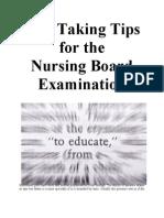 Test Taking Tips for the Nursing Board Exam