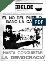 El Rebelde 254 Agosto 1988