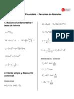 Matematica Financiera - Formulas