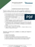Critérios para o Programa de Intercâmbio