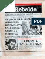 El Rebelde 259 Mayo 1989