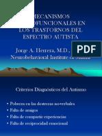 Mecanismos Neurofunc en Autismo