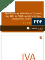 Reforma Tributaria (Ley 1607 de 2012) en Materia de IVA y Disposiciones Financieras. Catalina Hoyos_20130131_023448