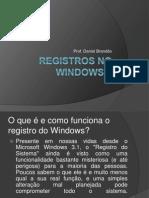 Registros No Windows 7