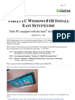 TabletPC Windows8 Setup GUIDE