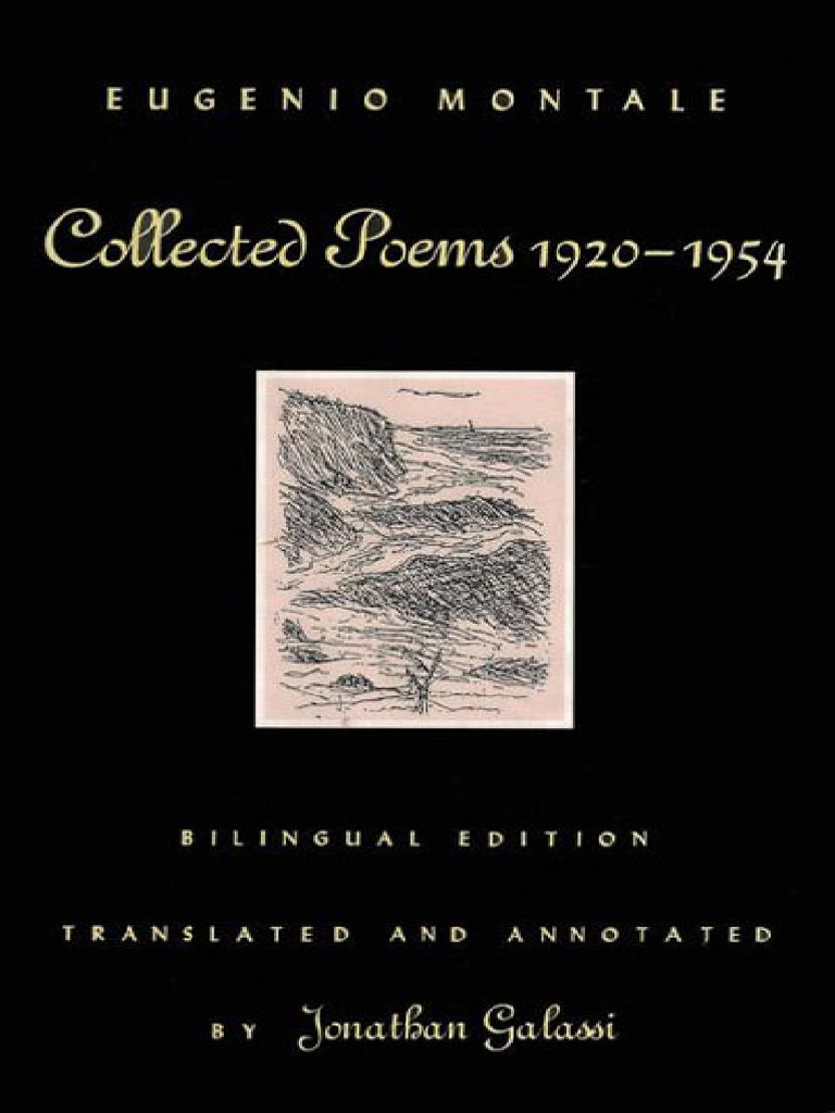 Eugenio Montale Collected Poems 1920 1954 Revised Bilingual Edition