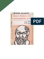 Mondolfo Rodolfo - Breve Historia Del to Antiguo