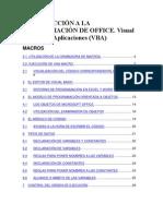 INTRODUCCIÓN A LA PROGRAMACIÓN DE OFFICE