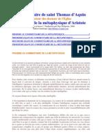 St. Thomas d'Aquin - Commentaire métaphysique d'Aristote _(leçons 1, 2, 3_)
