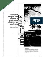 Actv.4.1 Formacion Integral Una Reflexion Partir de La Sociologia2003