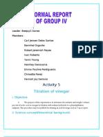 Titration of Vinegar-1re