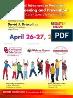 39th Annual Advances in Pediatrics Brochure- Oklahoma