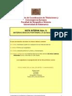 Nota Interna nº 8 Materias básicas por ramas